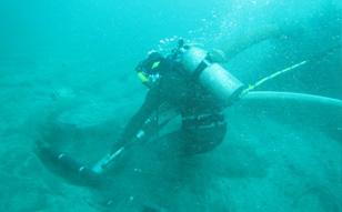2016年 輪島混合ガス潜水、日立LNG海象計設置