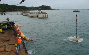 2007 / 1 ~ 12 シンガポール 海底ケーブル布設工事