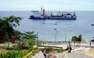 2004/ 7 ~ 2005/12 フィリピン LEYTE~CEBU ケーブル布設工事