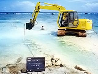 バックホーによるトレンチ掘削の管理