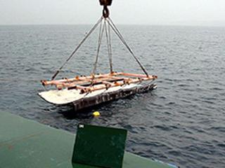 沈下防止アスファルトマットの敷設